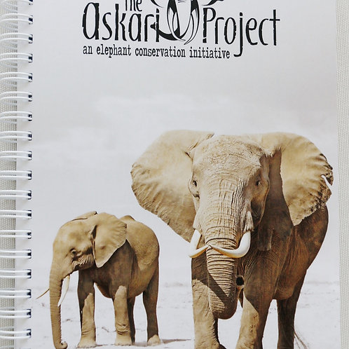 A5 Askari Journal - Two Elephants Print