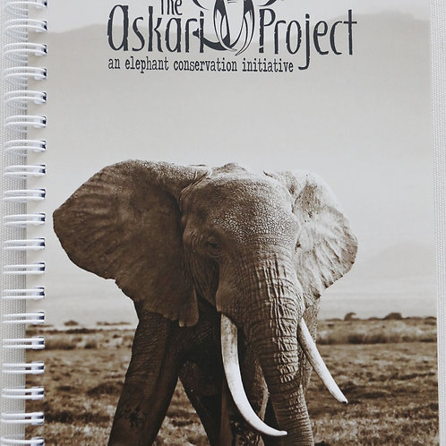 A6 Askari Journal - Elephant Bull Print