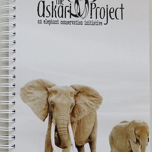 A6 Askari Journal - Elephant & Calf Print