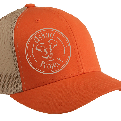 Askari Trucker Cap - Orange / Khaki