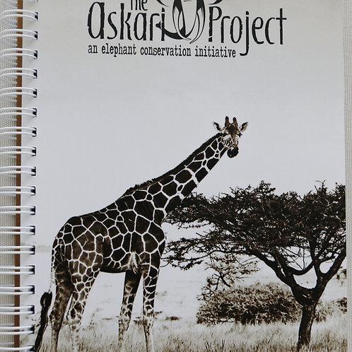 A6 Askari Journal - Giraffe Print