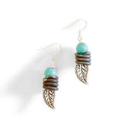 Leaf & Snarewire Earrings