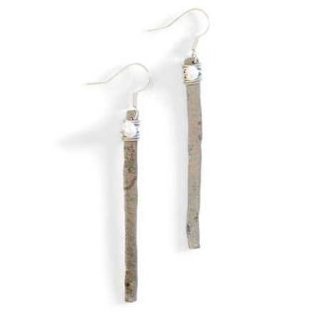 Hammered Snarewire Earrings