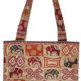 Carrier Bag - Elephant Block Print