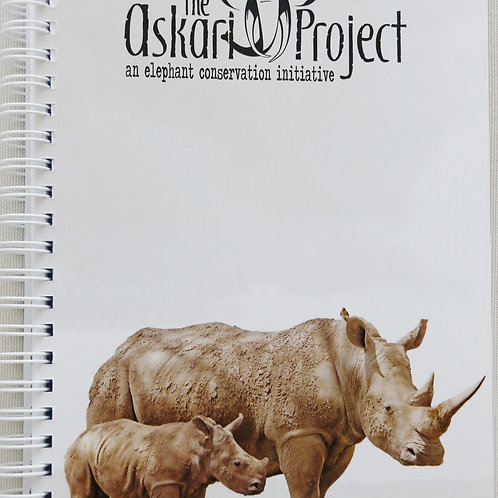 A5 Askari Journal - Rhino & Calf Print