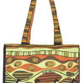 Carrier Bag - Giraffe Retro Print