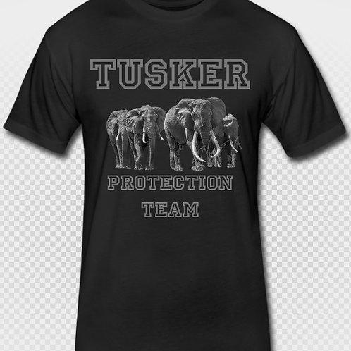 Men's Askari Tusker Team T-Shirt - Black