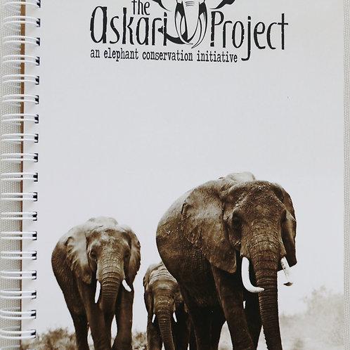 A5 Askari Journal - Walking Elephants Print