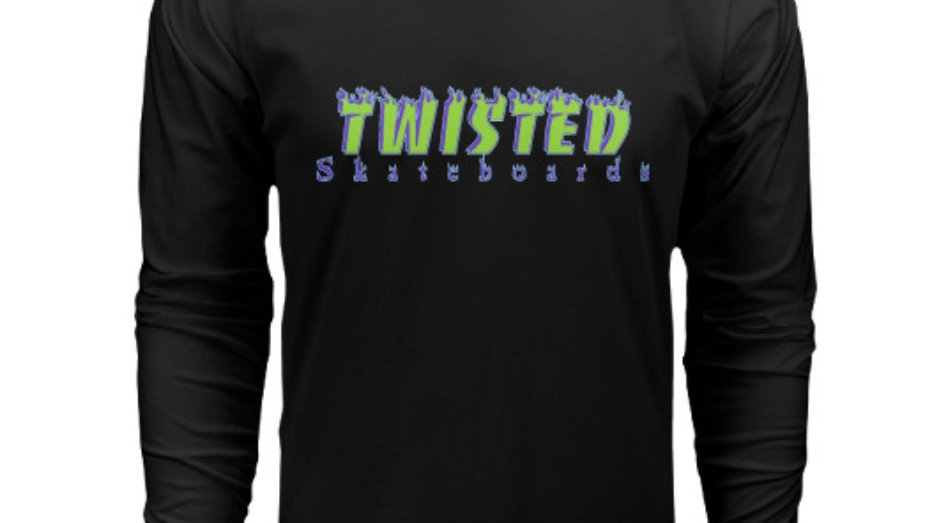 Twisted Purp Flames Long Sleeve Shirt