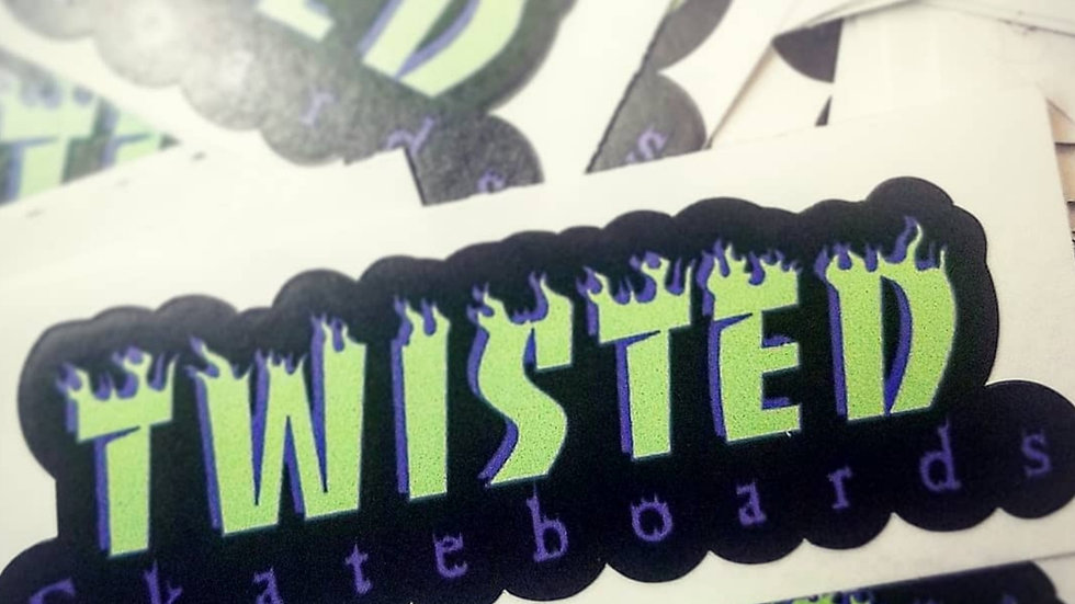 Twisted Flames Stickers