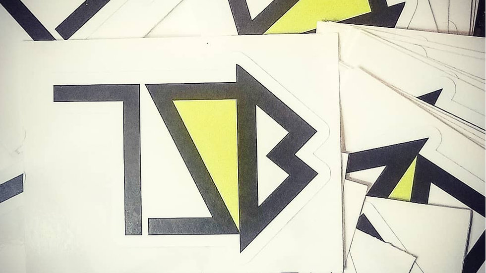 Dye Cut Twisted Logo Sticker