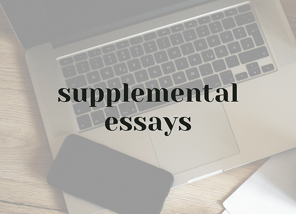 Supplemental Essays