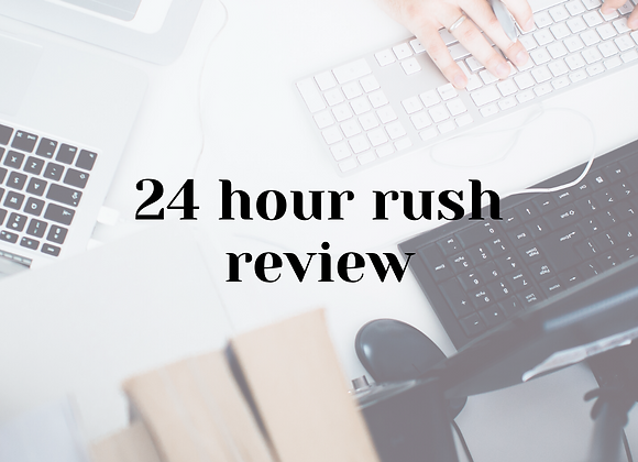 24 Hour Rush Review Add-On