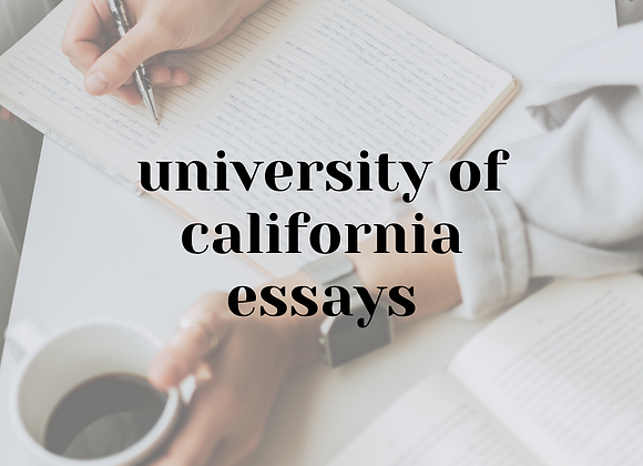 University of California Essays