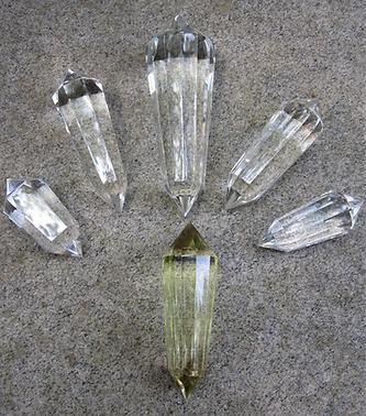 Vogel cut crystals 8 12 and 24 sided