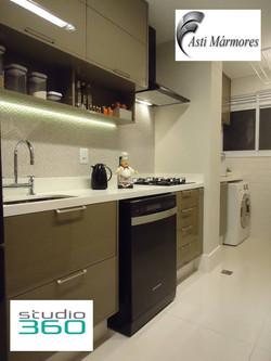Pia da Cozinha em Quartzo Stone Branco