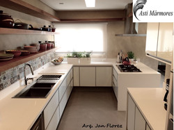 Cozinha Quartzo Stone Branco
