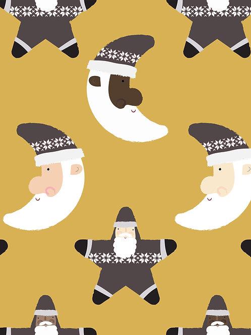 Santa Icons - Mustard