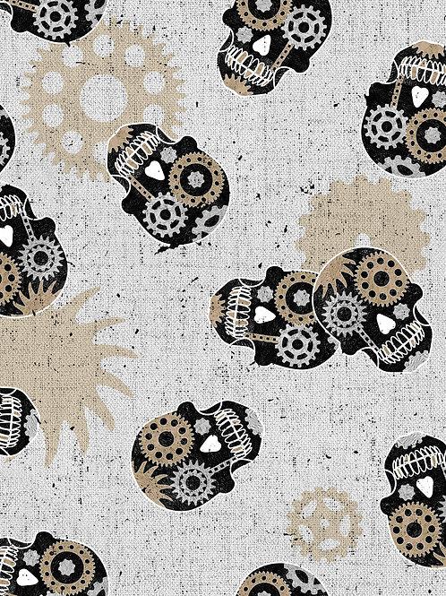 Steampunk Skulls - Light Grey