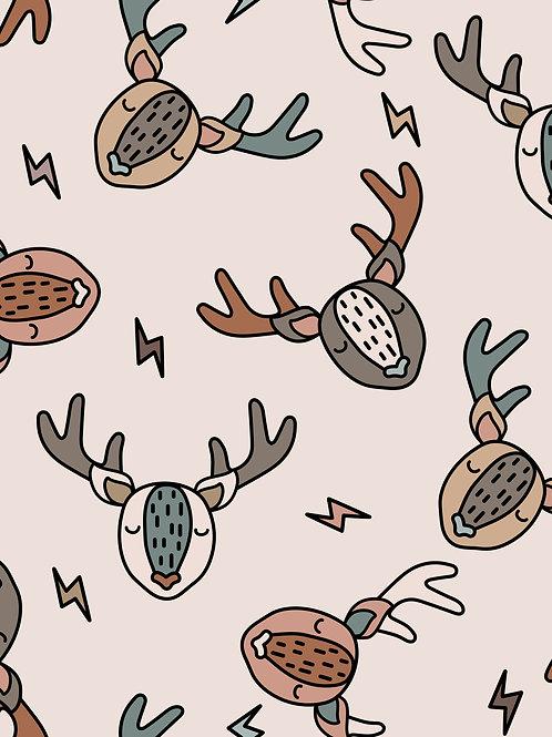 Scandi Deer - Cream