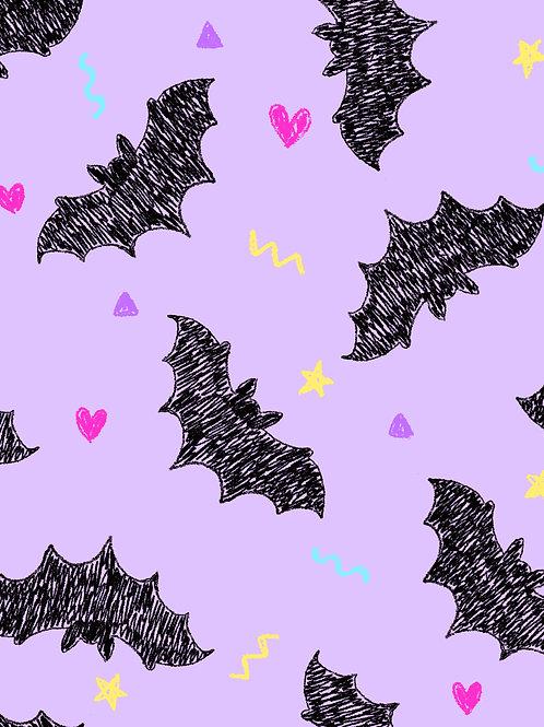 Drawn Bats - Lilac