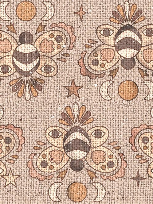 Bees - Burlap Boho Light