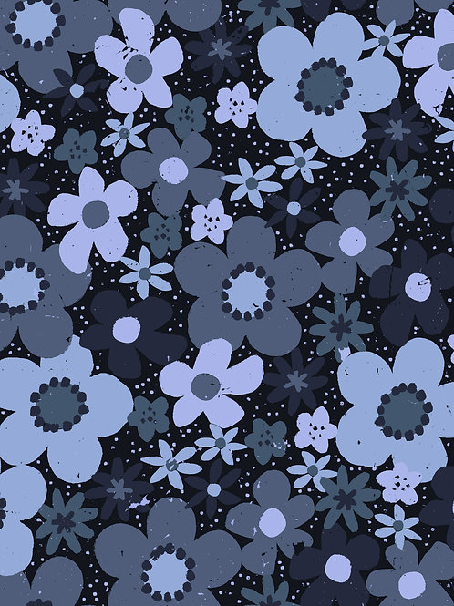 Ditsy Floral -Navy