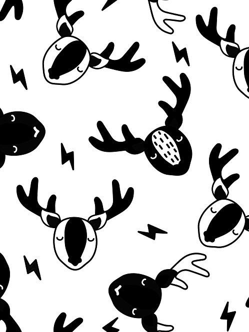 Scandi Deer -Mono