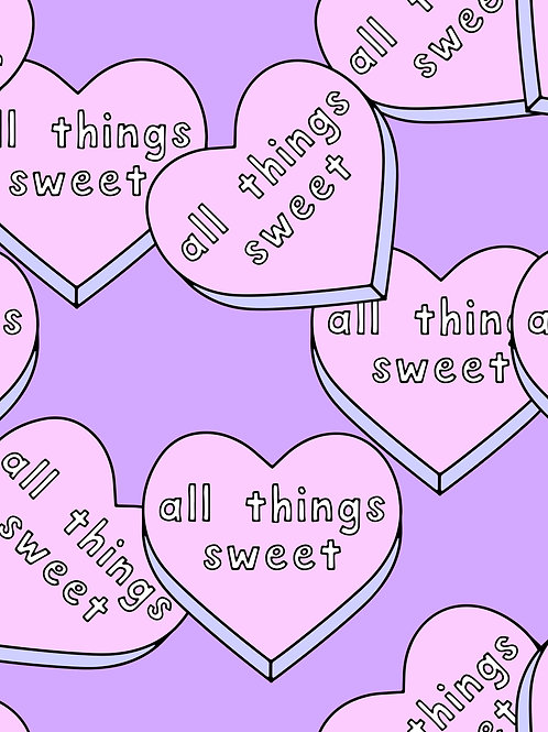 Slogan Hearts - All Things Sweet