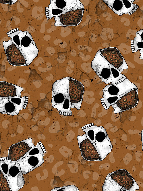 Leopard Skulls -Brown