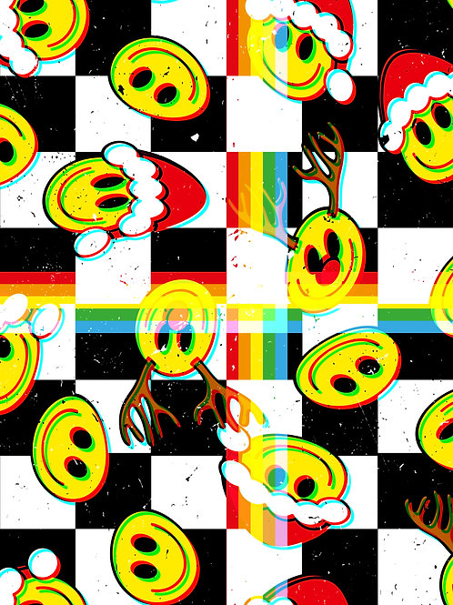 Retro Smilies - Checkerboard