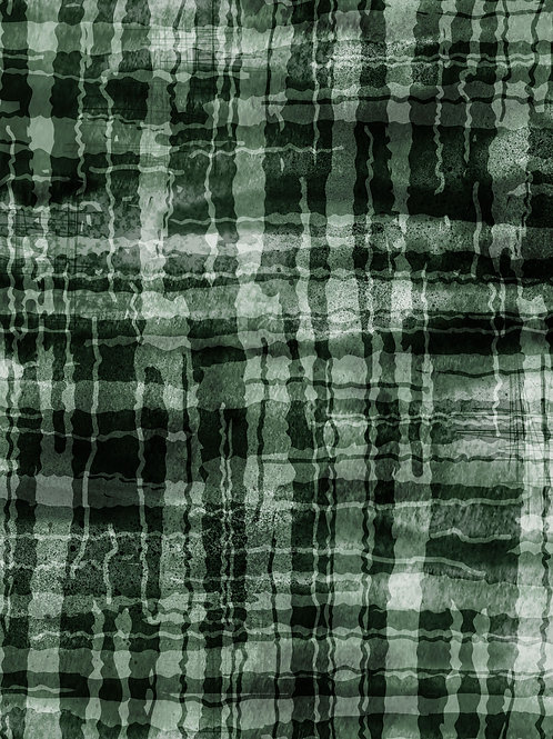 Unironed Check - Green