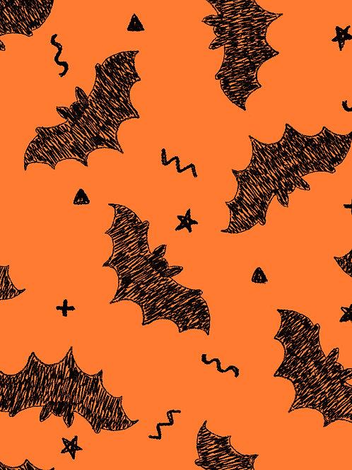 Drawn Bats - Orange