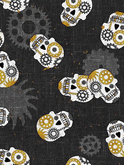 Steampunk Skulls - Dark Grey