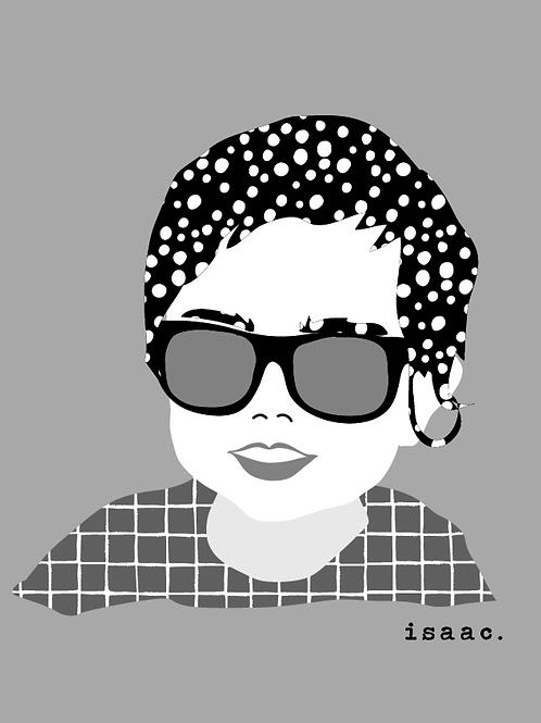 Monochrome Geo Portrait