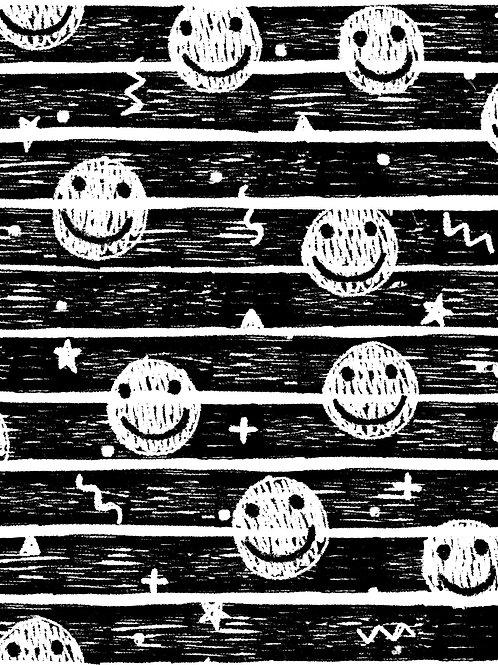 Drawn Smilies - Mono Stripe