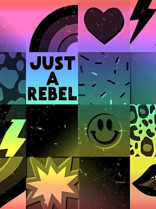 Retro Patchwork - Rebel Rainbow