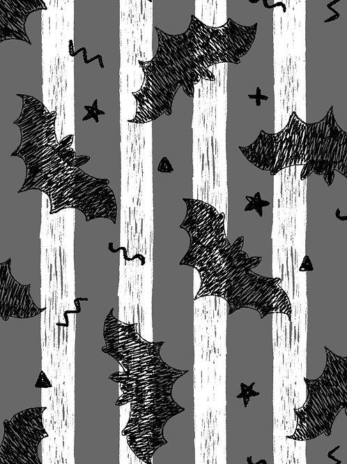 Drawn Bats - Mono Stripes