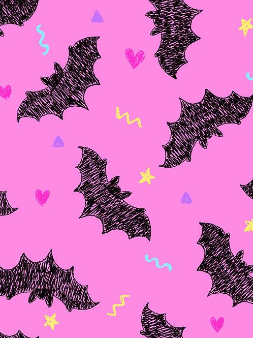 Drawn Bats - Pink