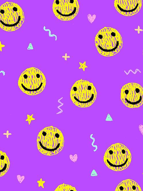 Drawn Smilies - Purple