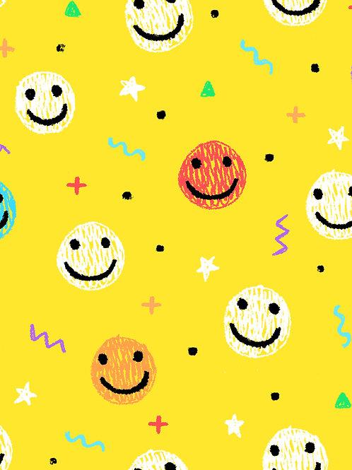 Drawn Smilies - Yellow