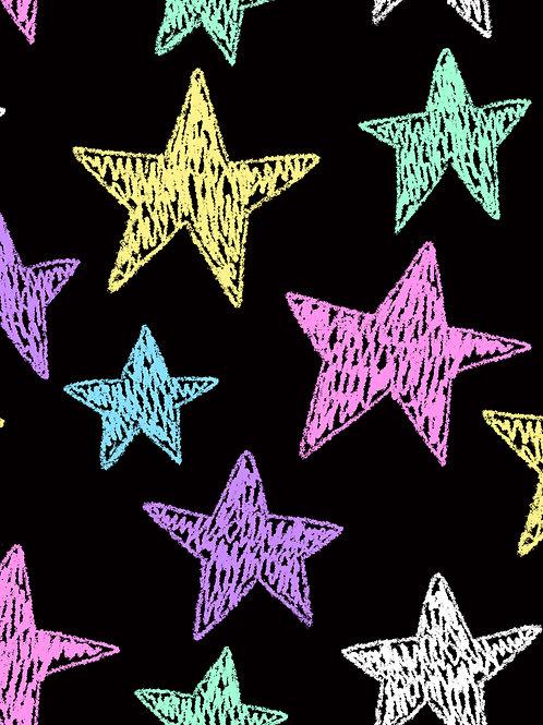Drawn Stars - Pastel