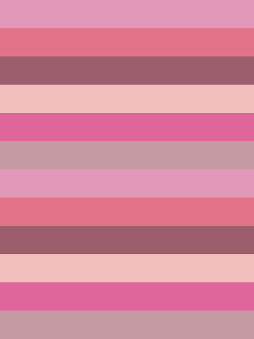 SHADES OF PINK STRIPES HALF INCH
