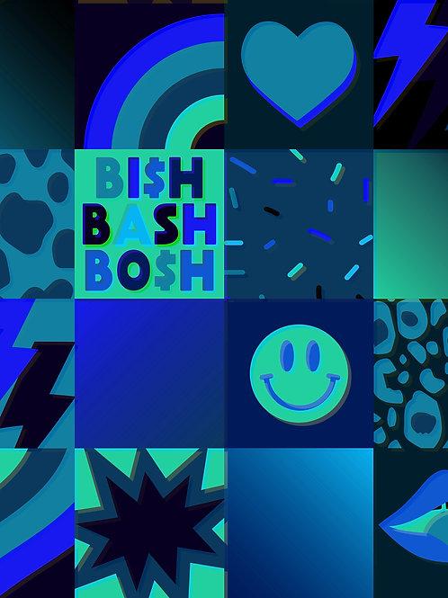 Retro Patchwork - Blue Bosh