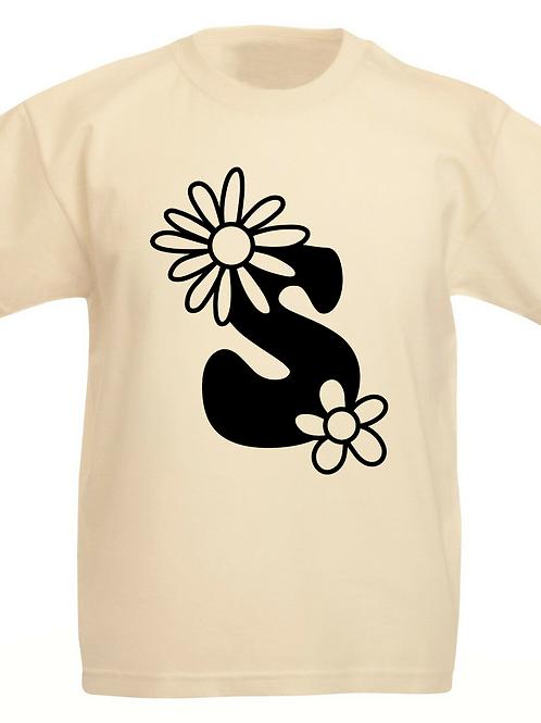 Boho Flowers Monogram T-shirt