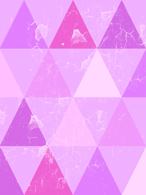 Geo Triangles - Pink