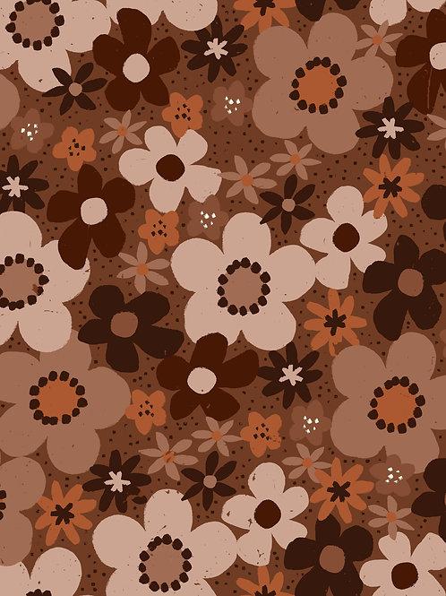 Ditsy Floral -Brown