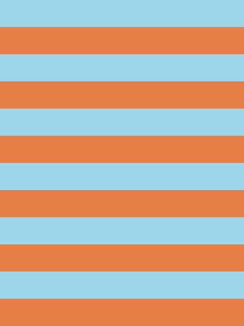 CARROT & SKY STRIPES HALF INCH
