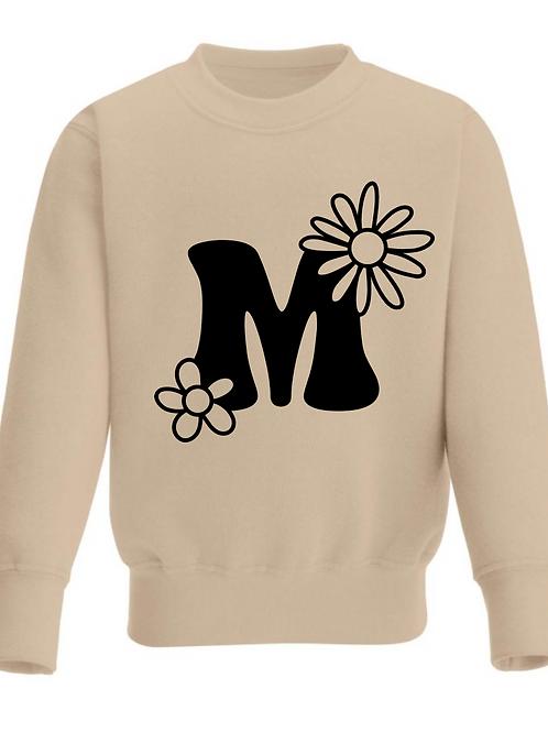 Boho Flowers Monogram Sweatshirt