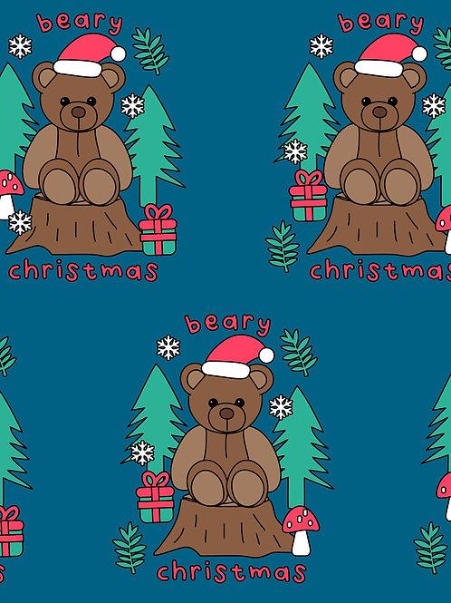 Beary Christmas - Teal